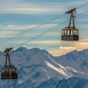Die Nebelhornbahn, vor der Bergstation