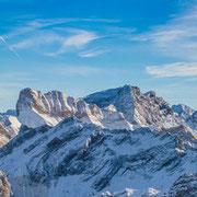 Alpenpanorama vom Nebelhorn Richtung Österreich