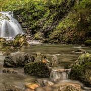Gaisalpbach und einer seiner schönsten Wasserfälle, in der nähe von Reichenbach 2