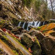 Einer von den Wasserfällen des Gaisalpbaches