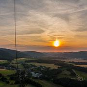 Sonnenuntergang irgendwo über Saalfeld/Rudolstadt