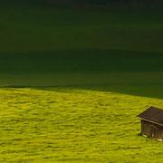 Die Hütte auf der Wiese