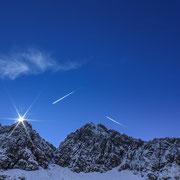 Das Nebelhorn - bei dem abstieg vom Rubihorn festgehalten