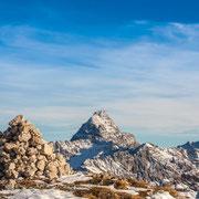 Blick auf den Hochvogel vom Nebelhorn aus