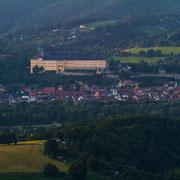 Blick über Rudolstadt auf unsere Heideksburg