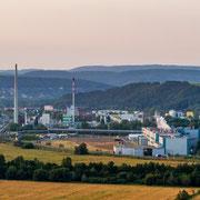 Schwarza bei Rudolstadt zusehen ist die Papierfabrik