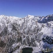 Der Untere Gaisalpsee, Blick vom Rubihorn