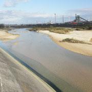 朝明川河口2013年11月11日9時出発