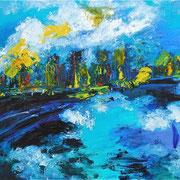 Meer in Öl I - 2010 - Acryl & Öl auf Leinwand - 50 x 70 cm