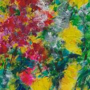 Herbst - gelbe Astern (II) - 2010 - Acryl auf Leinwand - 40 x 30 cm