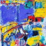 Havelfahrt Berlin - 2009 - Acryl, Öl & Pigmente auf Leinwand - 70 x 50 cm