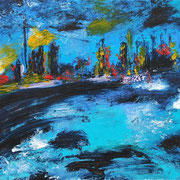Meer in Öl II - 2010 - Acryl & Öl auf Leinwand - 50 x 70 cm