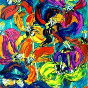 Verwelkte Tulpen -  2006 -  Acryl & Öl auf Leinwand -  90 x 60 cm