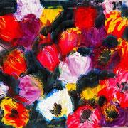 Spielerei  - 2008 -  Acryl & Öl auf Leinwand -  46 x 55 cm