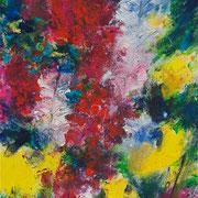 Herbst - gelbe Astern (I) - 2010 - Acryl auf Leinwand - 23 x 30 cm