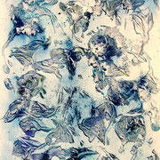 Florales - 2006 -  Acryl, Öl & Farbpigmente auf Leinwand -  80 x 60 cm