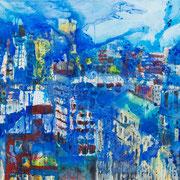 Verregneter Sonntag - New York - 2012 - Acryl & Öl auf Leinwand - 80 x 100 cm