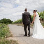 Brautpaar Weinberge Hochzeit Franken
