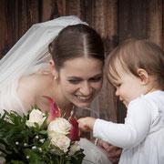 Braut mit Kind Hochzeit Erlangen