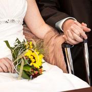 Hochzeit München Brautstrauß Sonnenblume