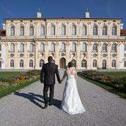 Hochzeit München Brautpaar Schloss