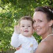 Braut und Baby Hochzeit Franken
