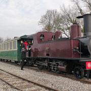 Le Train Touristique à la gare de Morlay