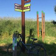 Poteau indicateur vélo