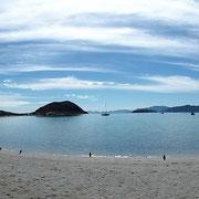 die Bucht von Playa Santispac