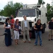Behörde und Lokalfernsehen in Welikiye Luki