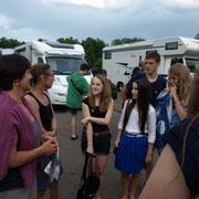 Rege Diskussionen mit der Jugend