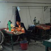 Arbeitsplatz in der Jade Kunstwerkstatt