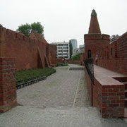 restaurierte Stadtmauer