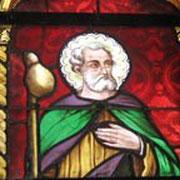 Détail d'un vitrail - Eglise Saint-Jacques (LOCQUIREC)