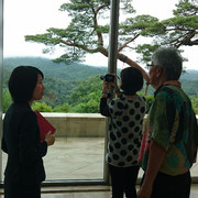 With a curator at Miho museum