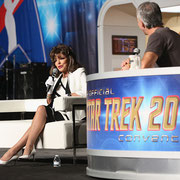 Joan takes questions from the audience at The Official Star Trek Convention 2015 at The Rio Suites Las Vegas.