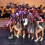 Joan with the cast of Showstoppers at The Wynn Hotel Las Vegas August 8th 2015