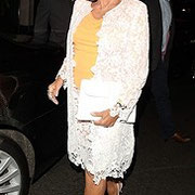 Joan enjoys a night out in London at The Ivy August 5th 2015