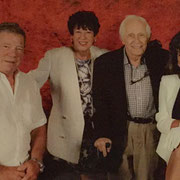 Joan with William Shatner and her close friends Judy & Max Bryer at The Rio Suites Las Vegas during The Official Star Trek Convention 2015.