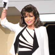 Joan makes her entrance for a Q&A at The 2015 Official Star Trek Convention Las Vegas at The Rio Suites August 8th 2015
