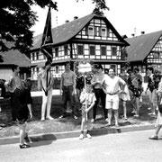 Treffpunkt des Festumzuges am Werderplatz 1986