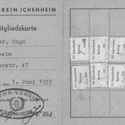 Mitgliedskarte aus dem Jahre 1955
