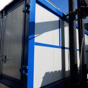 Secador de madeira de piso móvel com sistema de retenção