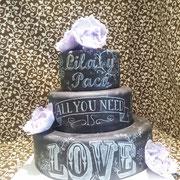 pastel boda chalk board