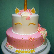 pastel fondant  unicornio