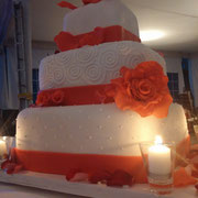 pastel boda coral