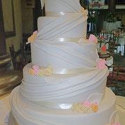 pastel boda con lienzos