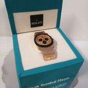 Pastel fondant reloj rolex