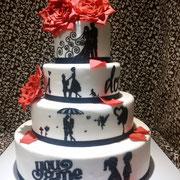 pastel boda i do