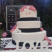 pastel boda love